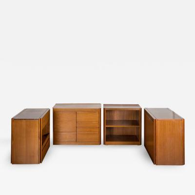 Angelo Mangiarotti Set of Four 4D storage system by Angelo Mangiarotti for Molteni