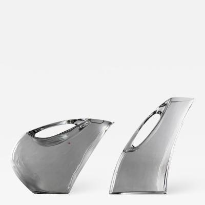 Angelo Mangiarotti Set of Two Crystal Pitchers by Angelo Mangiarotti