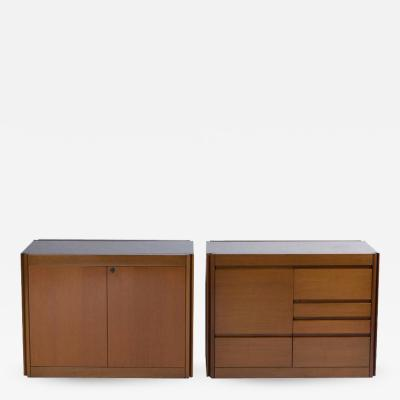 Angelo Mangiarotti Set of Two Marble Top 4D Storage System by Mangiarotti for Molteni
