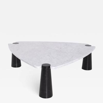 Angelo Mangiarotti Side table by Angelo Mangiarotti series Skipper in marble black and white label