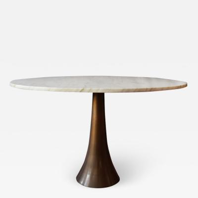 Angelo Mangiarotti Table no 302 in Bronze and Marble by Angelo Mangiarotti for Bernini