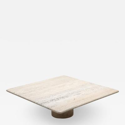 Angelo Mangiarotti Travertine Coffee Table by Angelo Mangiarotti 1970s