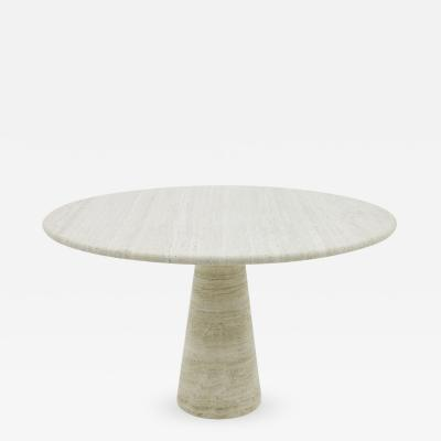 Angelo Mangiarotti Travertine Dining Table attributed to Angelo Mangiarotti