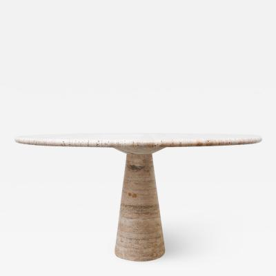 Angelo Mangiarotti Travertine Dining Table by Angelo Mangiarotti