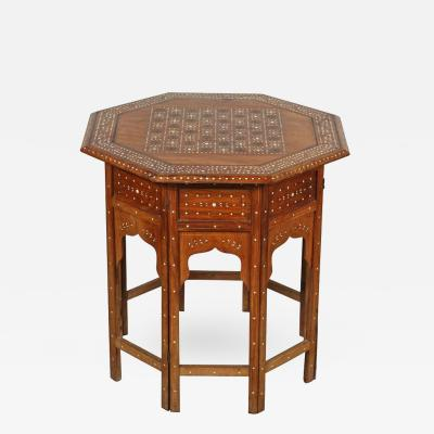 Anglo Indian Octagonal Game Chest Table