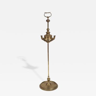 Anglo Raj Antique 19th Century Bronze Oil Lamp