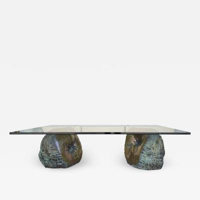 Anita Tullio Bronze Rock Coffee Table France 1970s