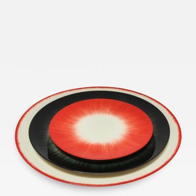 Ann Demeulemeester for Serax D Dinner Plates in Black Off White Red