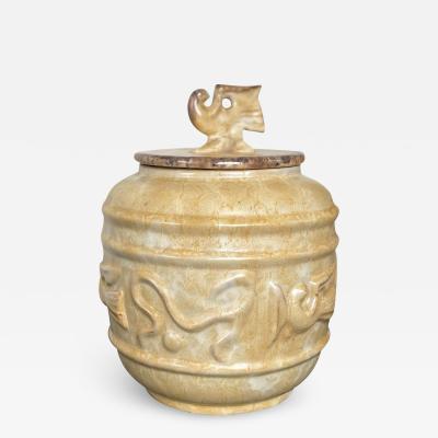 Anna Lisa Thomson Bird Themed Lidded Urn by Anna Lisa Thomson