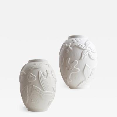 Anna Lisa Thomson Pair of Monumental Swedish Modern Vases by Anna Lisa Thomson