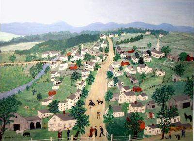 Anna Mary Robertson Grandma Moses Moses Important Painting by Grandma Moses Posenkill 1952