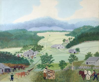 Anna Mary Robertson Moses Grandma Moses First Wagon on Cambridge Pike