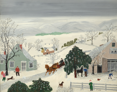 Anna Mary Robertson Moses Grandma Moses Offered by DEBRA FORCE FINE ART