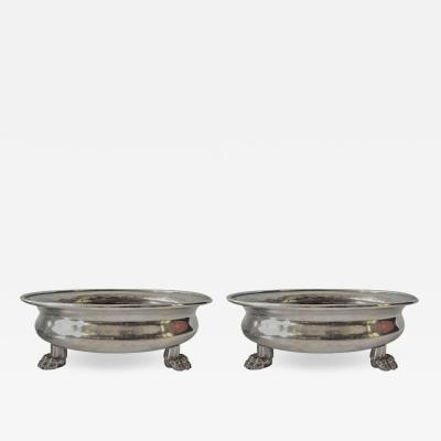 Anna Petrus Pair of Pewter Bawls by Anna Petrus