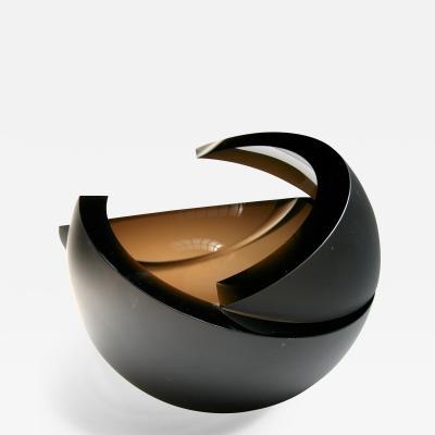 Anna Torfs Anna Torfs Armadillo Sphere Glass Sculpture Vase in Bronze