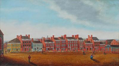 Anne Wrightson Rare Vivid Folk Art Street View