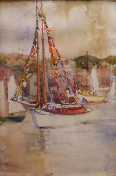 Annie Gooding Sykes Sailboat with Semaphore Flags
