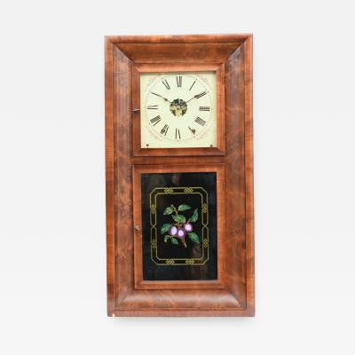 Ansonian Burled Walnut Case Wall Clock