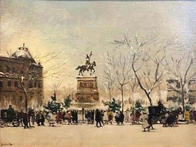 Antal Berkes Winter Paris c 1920s