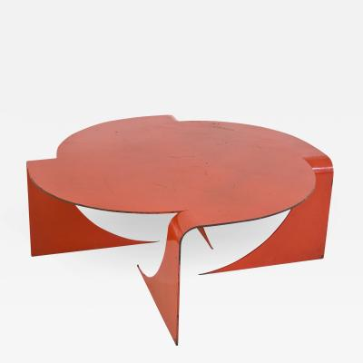 Anthony Leyland Red Steel Manifold Coffee Table by Anthony Leyland circa 2009 England