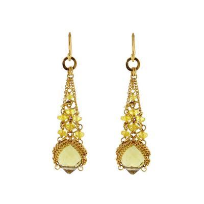 Anthony Nak Anthony Nak Citrine and Diamond Earrings
