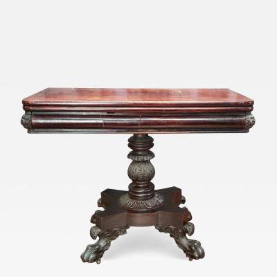Anthony Quervelle A Classical Carved Mahogany Games Table Attributed To Anthony Quervelle