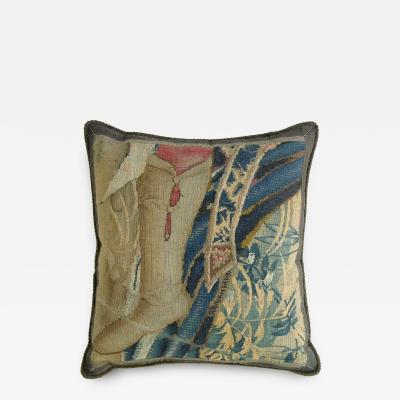 Antique 16th Century Brussels Tapestry Pillow