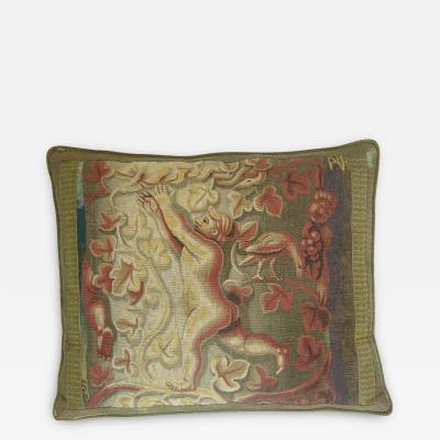 Antique 16th Century Flemish Tapestry Pillow 25 x 21