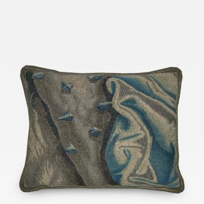 Antique 17th Century Brussels Tapestry Pillow