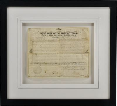 Antique 1851 State of Texas Land Grant Sam Houston Connection
