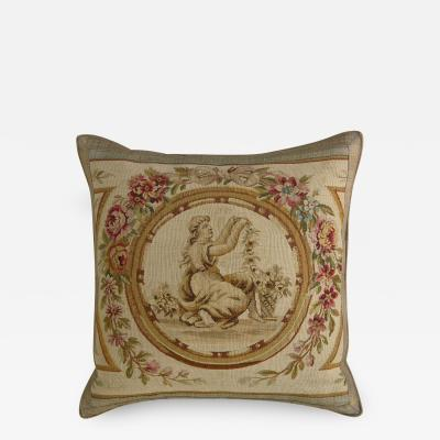 Antique 18th Century French Aubusson Tapestry Pillow