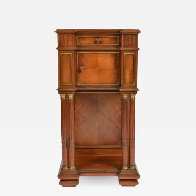 Antique 19th C French Walnut Cabinet Night Stand Napoleon III period