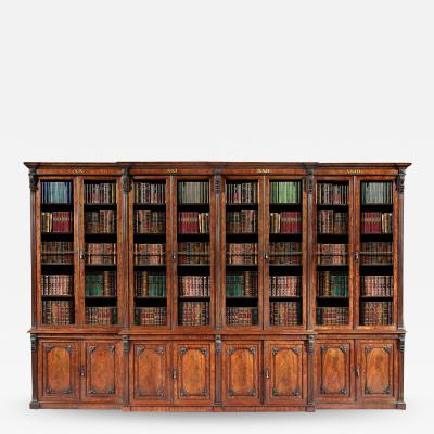 Antique 19th Century English Mahogany Library Bookcase