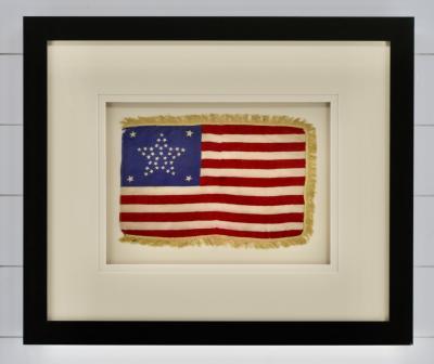 Antique 37 Star American Flag Circa 1867