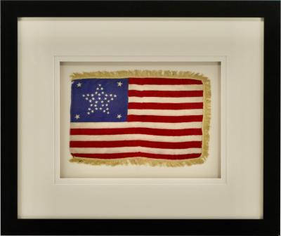 Antique 37 Star American Flag Circa 1867