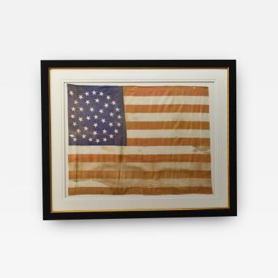 Antique 38 Star American Flag Circa 1876