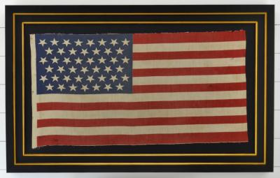 Antique 45 Star American Flag Circa 1896 Framed