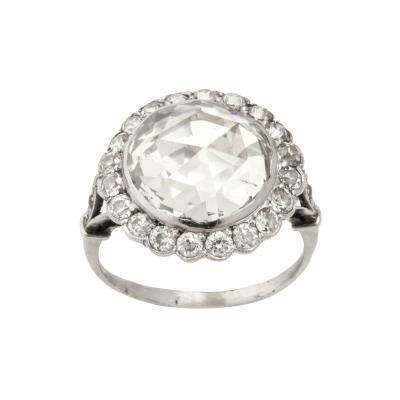 Antique 5 ct Rose Cut Diamond Ring
