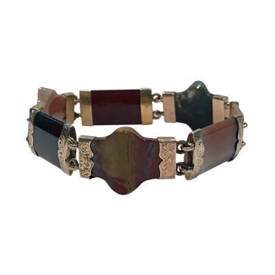 Antique Agate Gold Bracelet C 1875