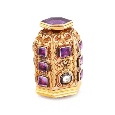 Antique Amethyst Perfume Bottle