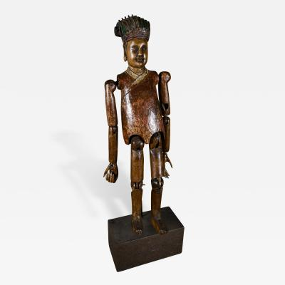 Antique Articulated Chinese Wood Puppet