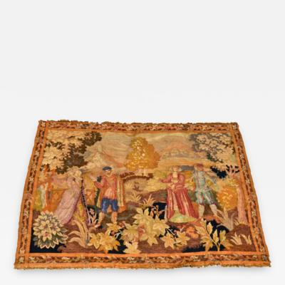 Antique Aubusson Handwoven Flemish Tapestry