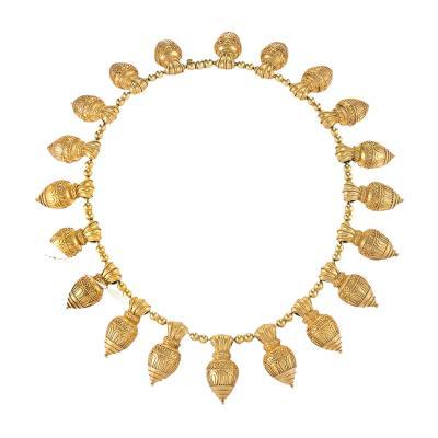 Antique Austro Hungarian Etruscan Revival Necklace