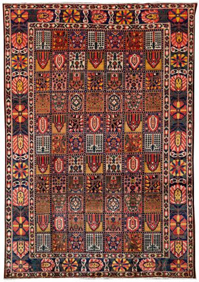 Antique Bakhtiari Rug 8 X 12