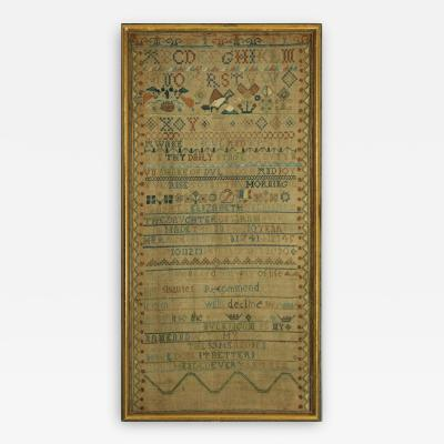Antique Band Sampler 1741 by Elizabeth Buckingam