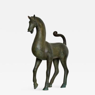 Antique Bronze Sculpture Horse Fine Antique by Toto