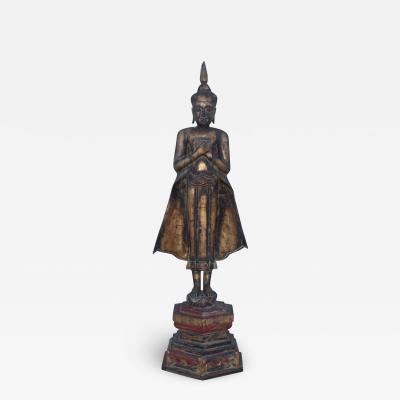 Antique Buddha Standing Sculpture