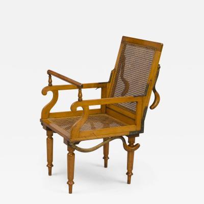 Antique Campaign Folding Armchair Maker J Alderman London Circa 1870