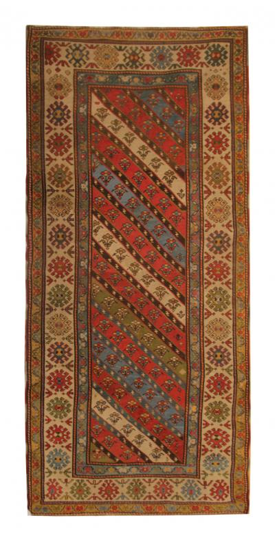 Antique Caucasian Shirvan Rug Rare Hand Made Carpet