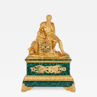 Antique Charles X Period Mantel Clock Depicting Belisarius by Viteau